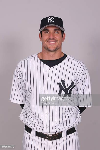 Carl Pavano of the New York Yankees during photo day at Legends Field on February 24 2006 in Tampa Florida