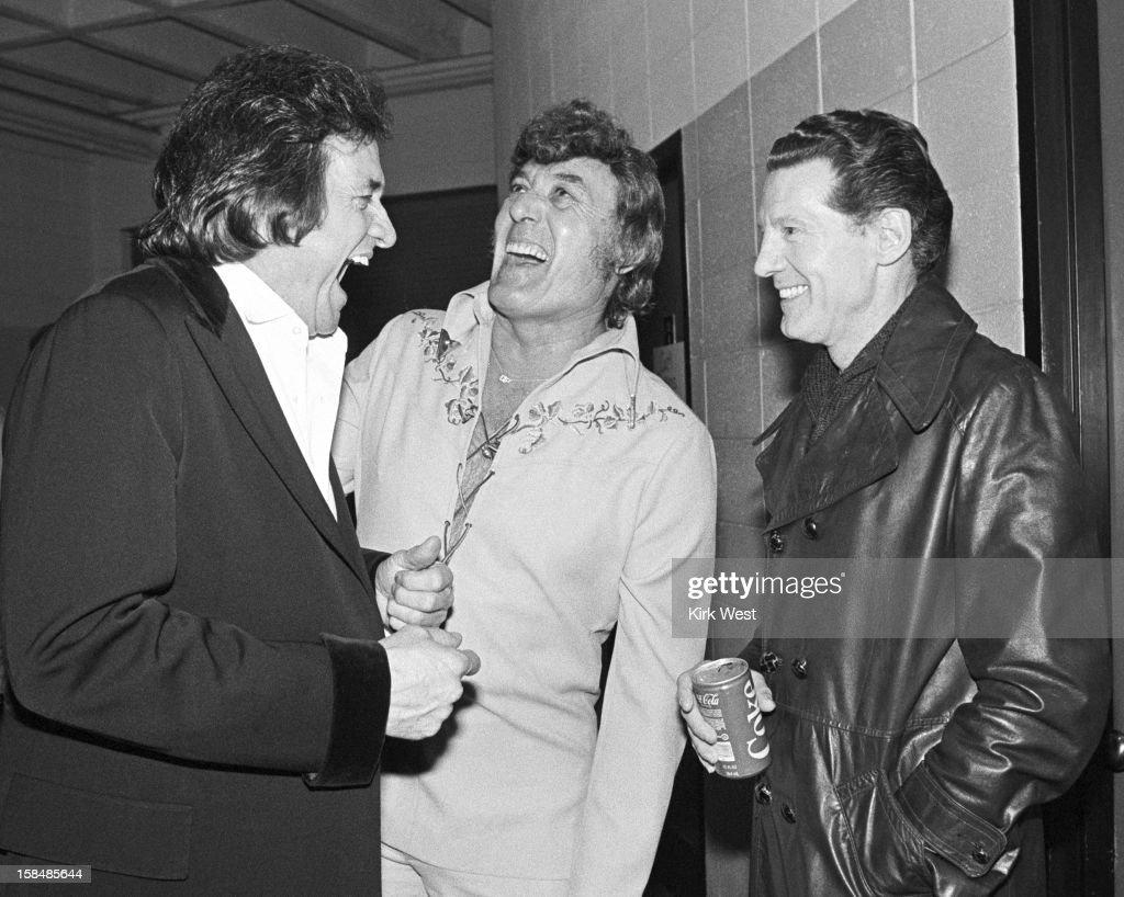 Perkins, Cash, & Lewis At The Madison Coliseum : News Photo