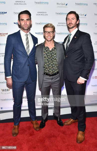 Carl Radke Kyle Cooke and Everett Weston of 'Summer House' attend the Headstrong Gala 2017 at Pier 60 Chelsea Piers on October 16 2017 in New York...
