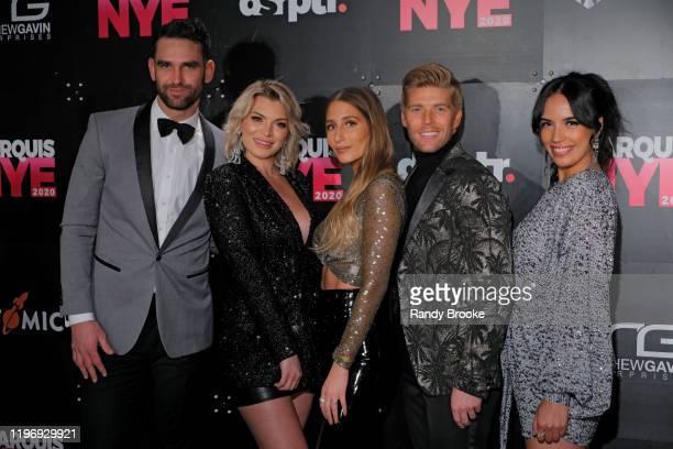 Carl Radke Lindsay Hubbard Amanda Batula Kyle Cooke and Danielle Olivera attend Marquis NYE 2020 at The New York Marriott Marquis on December 31 2019...