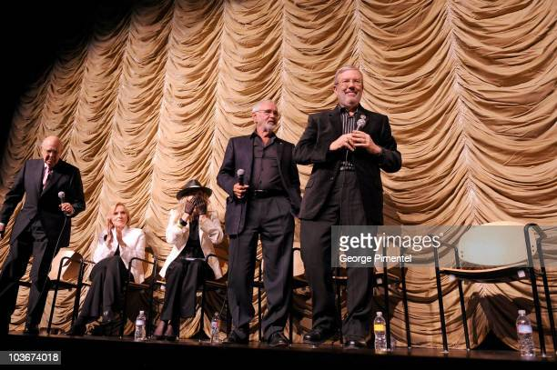 "Carl Reiner, actress Eva Marie Saint, actress Faye Dunaway, director Norman Jewison, and film Critic Leonard Maltin attend ""A Tribute to Norman..."