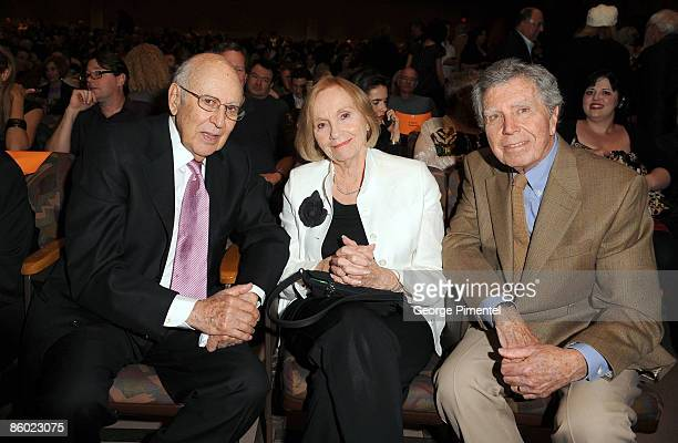 Carl Reiner actress Eva Marie Saint and Jeffrey Hayden attend A Tribute to Norman Jewison presented by CFC and Film Independent at LACMA on April 17...
