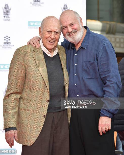 Carl Reiner and Rob Reiner are honored with Hand and Footprint Ceremony part of the 2017 TCM Classic Film Festival at TCL Chinese Theatre IMAX on...