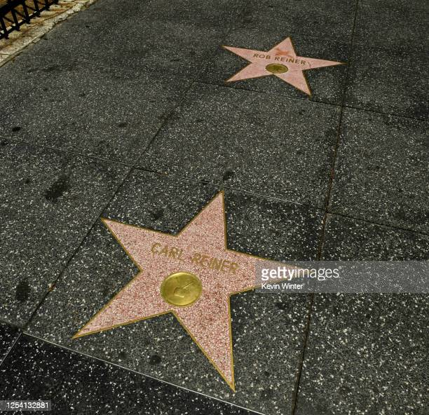 Carl Reiner and Rob Reiner's stars on the Hollywood Walk of Fame and their hand and footprints in the courtyard at TCL's Grauman's Chinese Theatre...