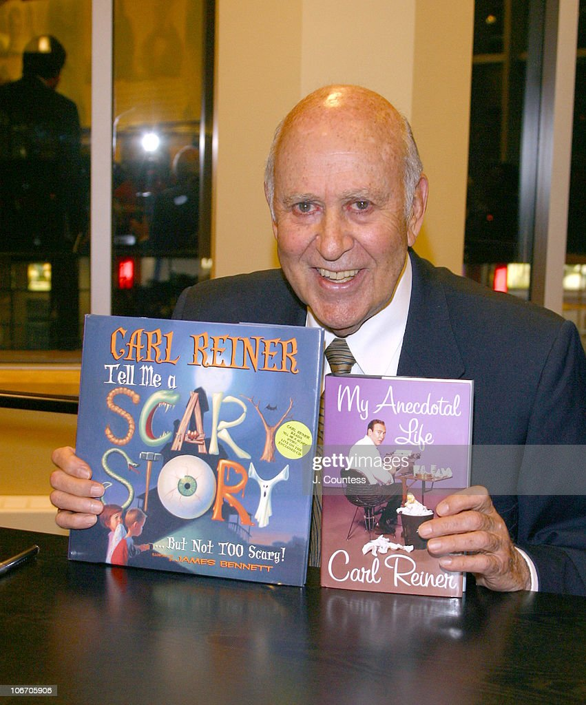 "Carl Reiner Reads and Signs his books, ""Tell Me A Scary Story, But Not Too"