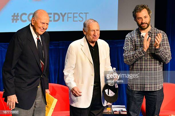 Carl Reiner Mel Brooks and Judd Apatow open the Comedy Central #ComedyFest KickOff with Mel Brooks Carl Reiner and Judd Apatow at The Paley Center...