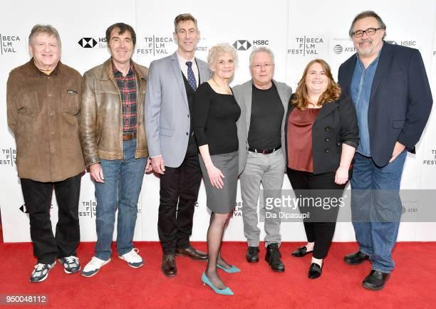 Carl Rennick Kirk Wise Bill Lauch Sarah Ashman Gillespie composer Alan Menken producer Lori Korngiebel and director Don Hahn attend a screening of...