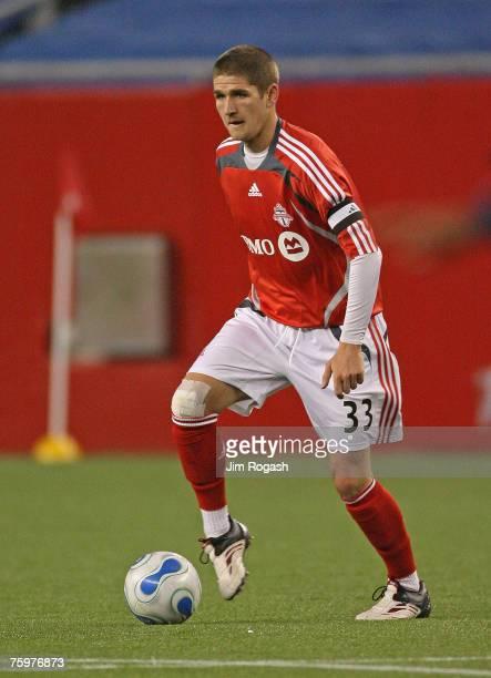 Carl Robinson of Toronto FC against the Revolution in MLS competition Saturday April 14 in Foxborough Massachusetts