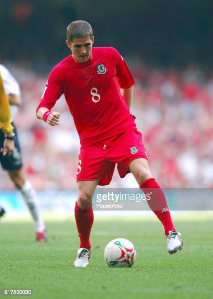 Carl Robinson of Wales in action during the 2006 World Cup Qualifying match between Wales and England at the Millennium Stadium in Cardiff on...