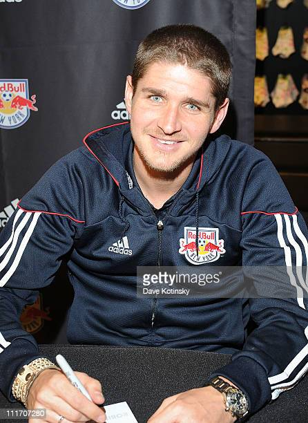 Carl Robinson visits the adidas Sport Performance Store on April 5 2011 in New York City