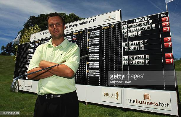 Carl Sainsbury of Brampton Heath pictured after he tied for the lead during the Business Fort plc English PGA Championship Regional Qualifier at the...