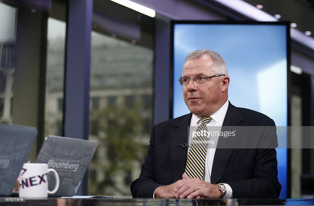 Carl Sheldon, chief executive officer of Abu Dhabi National Energy Co.(Taqa), speaks during a Bloomberg Television interview in London, U.K., on Wednesday, Nov. 28, 2012. Abu Dhabi National Energy Co. bought stakes in North Sea fields for $1.1 billion from BP Plc, the energy producer that's disposing of assets in the wake of the 2010 Gulf of Mexico oil spill. Photographer: Simon Dawson/Bloomberg via Getty Images