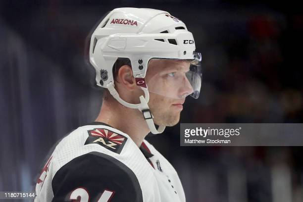 Carl Soderberg of the Arizona Coyotes plays against the Colorado Avalanche in the third period at the Pepsi Center on October 12 2019 in Denver...