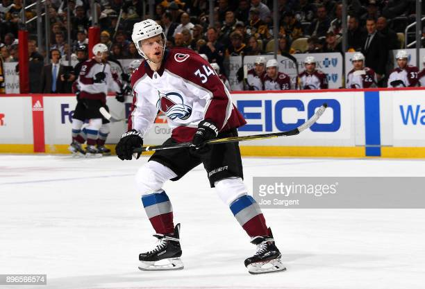 Carl Soderberg of the Colorado Avalanche skates against the Pittsburgh Penguins at PPG Paints Arena on December 11 2017 in Pittsburgh Pennsylvania