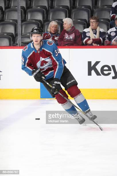 Carl Soderberg of the Colorado Avalanche skates during warm ups prior to the game against the Winnipeg Jets at the Pepsi Center on November 29 2017...