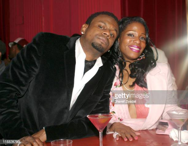 Carl Thomas and guest during Celebrities at Show Nightclub March 23 2004 at Show in New York City New York United States