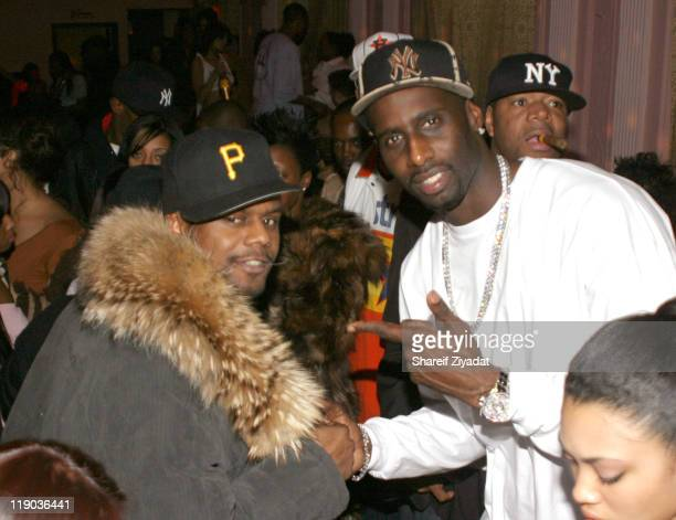 Carl Thomas and Tim Thomas during Tim Thomas of New York Knicks' Birthday Party February 23 2005 at Show in New York City New York United States