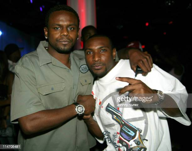Carl Thomas and Yung Lord during Wendy Williams Birthday Party at Tens at Tens in New York City New York United States