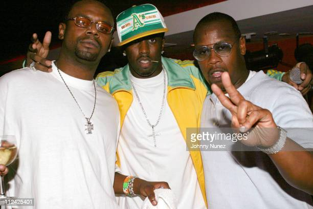 Carl Thomas Sean P Diddy Combs and Andre Harrell