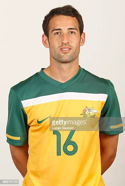 Carl Valeri of Australia poses for a portrait during an of Australian Socceroos portrait session at Park Hyatt on May 19 2010 in Melbourne Australia