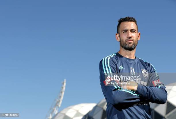 Carl Valeri of Melbourne Victory poses after a Melbourne Victory ALeague training session at Gosch's Paddock on May 4 2017 in Melbourne Australia