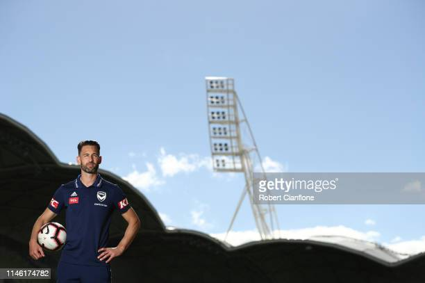 Carl Valeri of the Victory poses during a Melbourne Victory ALeague media opportunity at AAMI Park on May 01 2019 in Melbourne Australia
