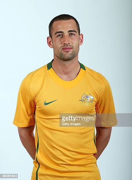 Carl Valeri poses during the Australian Socceroos portrait session on March 2009 in Australia