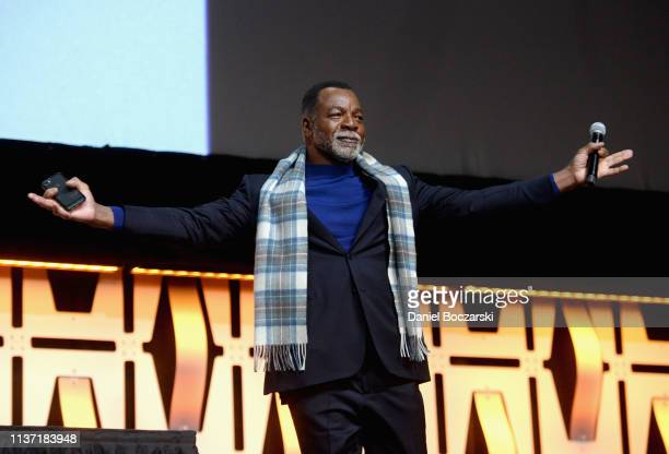 Carl Weathers onstage during The Mandalorian panel at the Star Wars Celebration at McCormick Place Convention Center on April 14 2019 in Chicago...