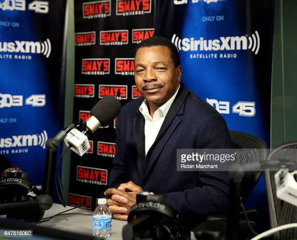 Carl Weathers visits 'Sway in the Morning' with Sway Calloway on Eminem's Shade 45 at SiriusXM Studios on March 3 2017 in New York City