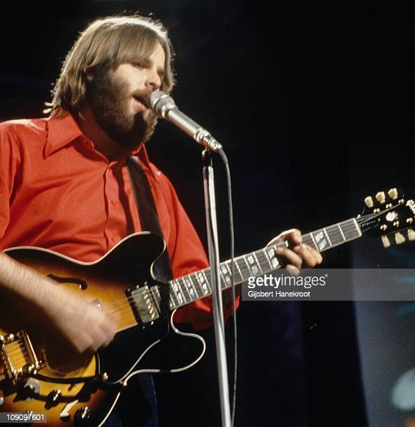 Carl Wilson of The Beach Boys performs on Top Of The Pops on 18th November 1970 in London He plays a Gibson ES335 guitar