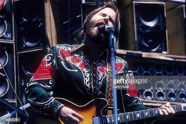 Carl Wilson playing with 'the Beach Boys' performing at Oakland Coliseum in Oakland, California on October 9, 1976.