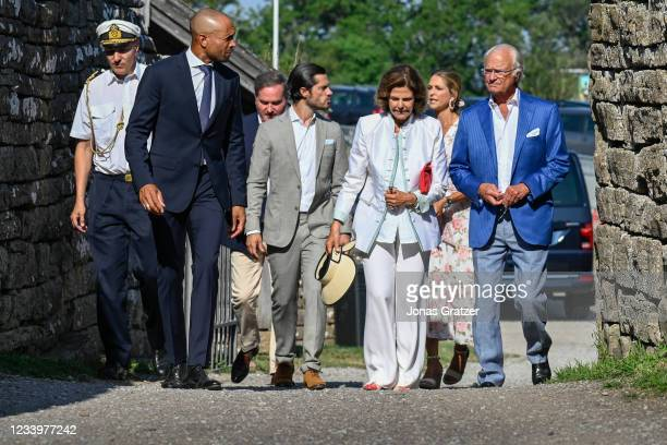 Carl XVI Gustaf of King of Sweden, Queen Silvia, Prince Carl Philip, Princess Madeleine, Chris O'Neill are seen on the occasion of The Crown Princess...