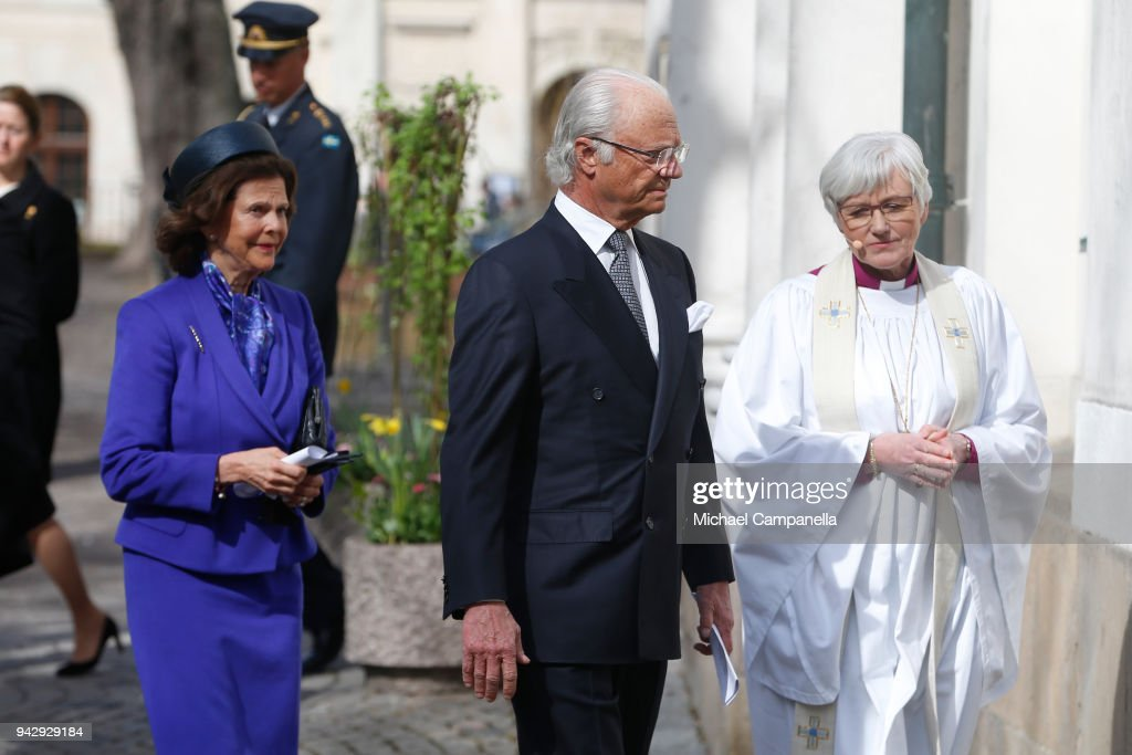 Swedish Royals Pay Tribute To Victims Of Stockholm Terrorist Attack On The First Anniversary : News Photo