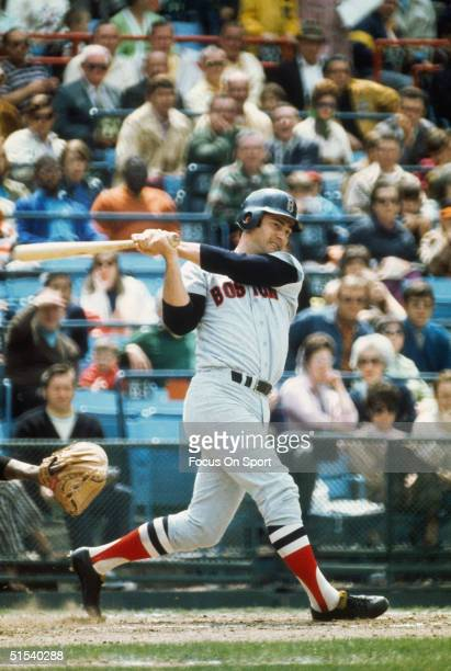 Carl Yastrzemski of the Boston Red Sox bats against the Baltimore Orioles at Memorial Park in Baltimore Maryland circa 1970's