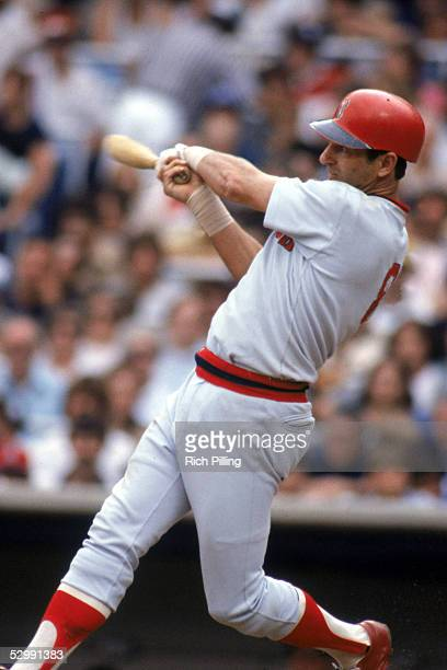 Carl Yastrzemski of the Boston Red Sox bats during a 1983 MLB game at Fenway Park in Boston Massachusetts