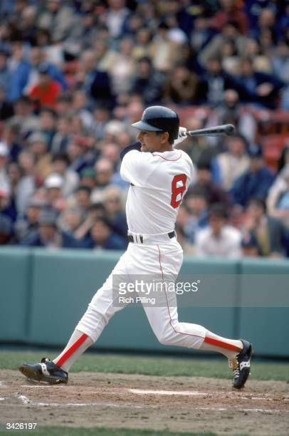 Carl Yastrzemski of the Boston Red Sox batting at Fenway Park in Boston Massachusetts in 1983 Yaz played for the Red Sox from 19611983