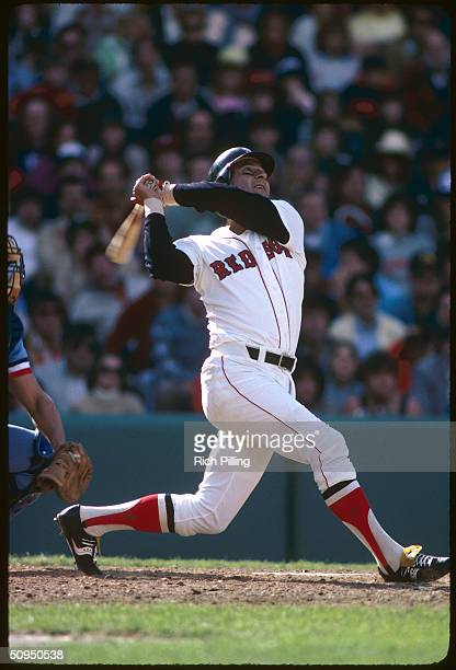 Carl Yastrzemski of the Boston Red Sox batting at Fenway Park in Boston Massachusetts circa 1982 Yaz played for the Red Sox from 19611983