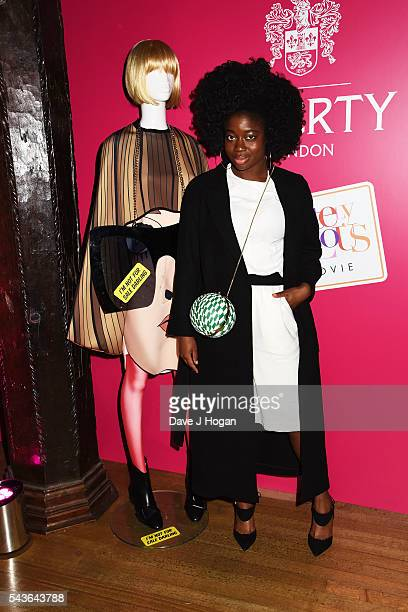 """Carla Amfo attends the after party of the world premiere of """"Absolutely Fabulous: The Movie"""" at Liberty on June 29, 2016 in London, England."""