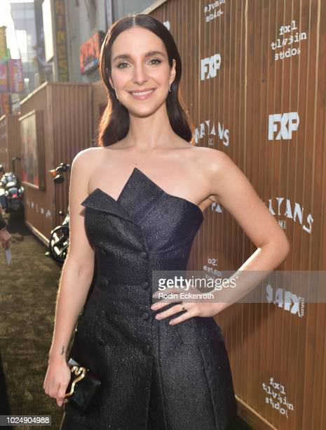 Carla Baratta arrives at the premiere of FX's Mayans MC at TCL Chinese Theatre on August 28 2018 in Hollywood California