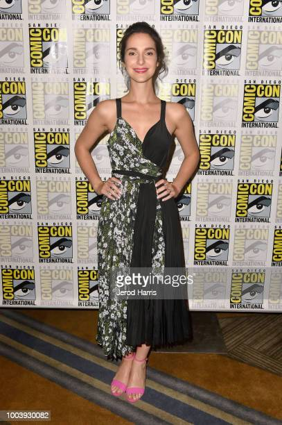 Carla Baratta attends FX's Mayans MC press line during ComicCon International 2018 at Hilton Bayfront on July 22 2018 in San Diego California