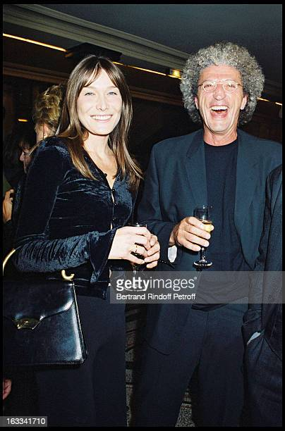 Carla Bruni and Elie Chouraqui at the film screening of 'La Grande Vadrouille' at the Garnier opera