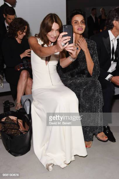 Carla Bruni and Farida Khelfa attend Fashion for Relief Cannes 2018 during the 71st annual Cannes Film Festival at Aeroport Cannes Mandelieu on May...