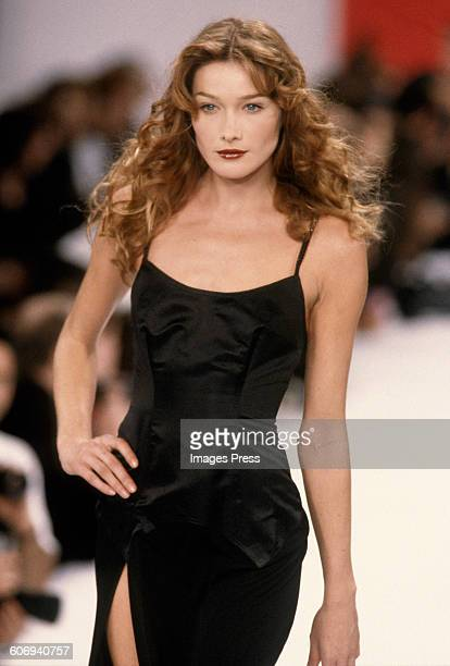 Carla Bruni at the Todd Oldham Spring 1995 show circa 1994 in New York City