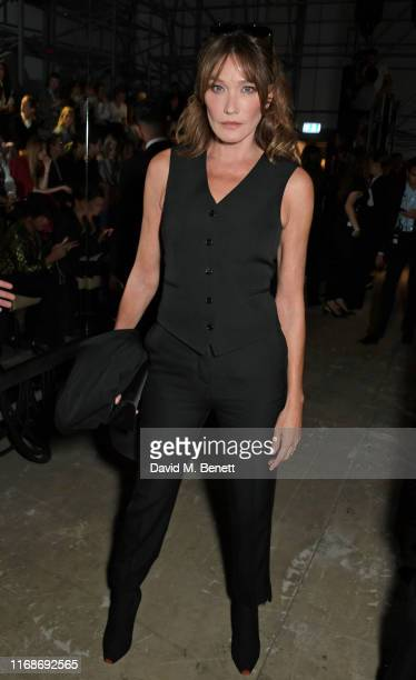 Carla Bruni attends the Burberry September 2019 show during London Fashion Week on September 16 2019 in London England