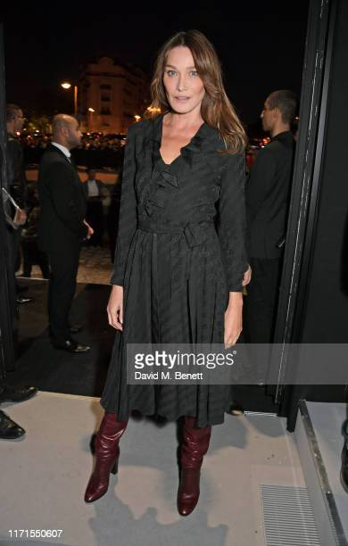 Carla Bruni attends the Celine Womenswear Spring/Summer 2020 show as part of Paris Fashion Week on September 27 2019 in Paris France