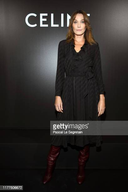 Carla Bruni attends the Celine Womenswear Spring/Summer 2020 show as part of Paris Fashion Week on September 27, 2019 in Paris, France.