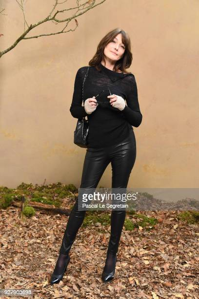 d6f74390cf Carla Bruni attends the Chanel show as part of the Paris Fashion Week  Womenswear Fall/