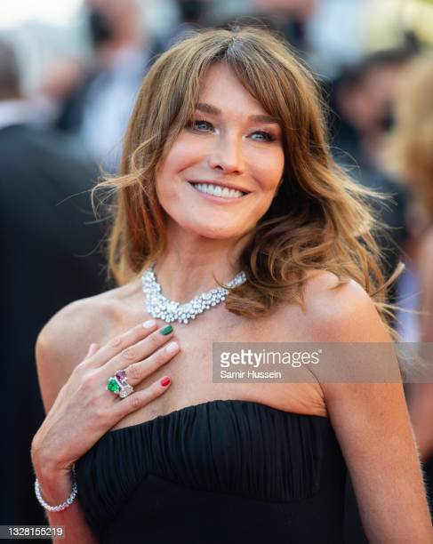 """Carla Bruni attends the """"De Son Vivient """" screening during the 74th annual Cannes Film Festival on July 10, 2021 in Cannes, France."""