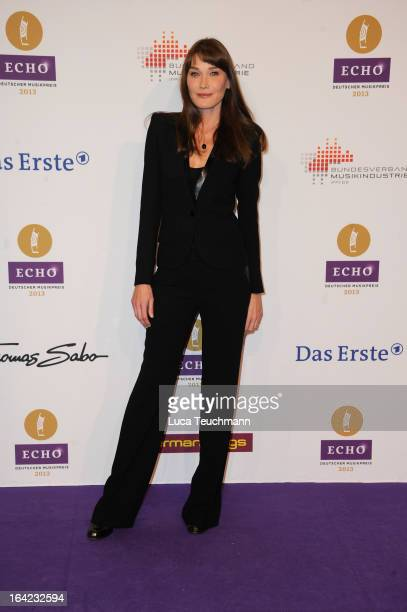 Carla Bruni attends the Echo Award 2013 at Palais am Funkturm on March 21 2013 in Berlin Germany