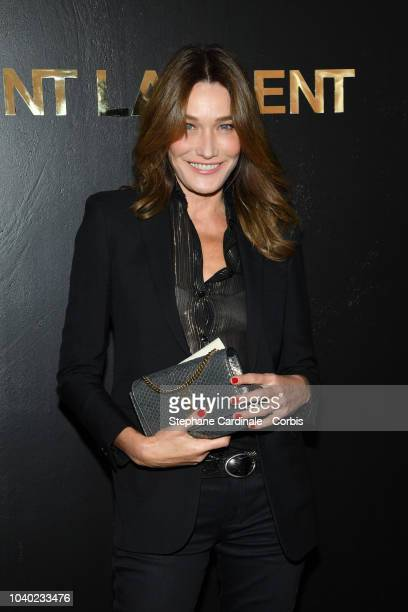 Carla Bruni attends the Saint Laurent show as part of the Paris Fashion Week Womenswear Spring/Summer 2019 on September 25 2018 in Paris France